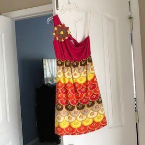 EUC Judith March pink one shoulder dress
